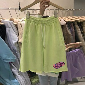 Women's cotton soft embroidered shorts